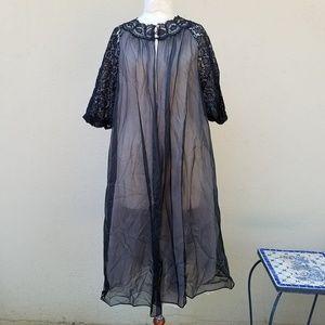 Vintage chiffon robe